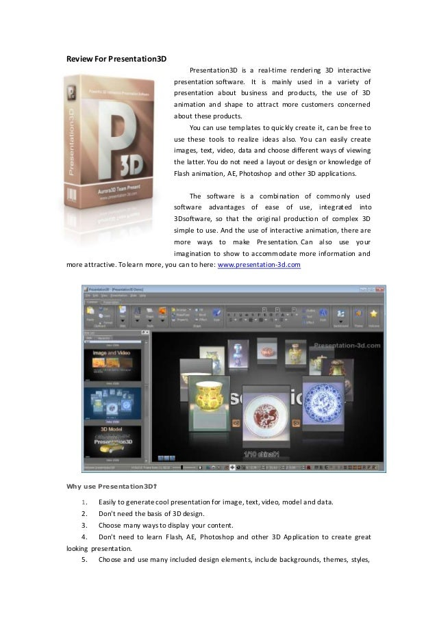 How to create 3d presentation