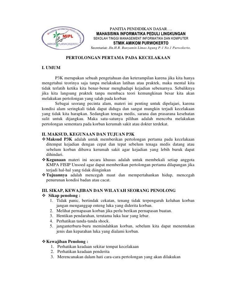 PANITIA PENDIDIKAN DASAR….                             MAHASISWA INFORMATIKA PEDULI LINGKUNGAN                           S...