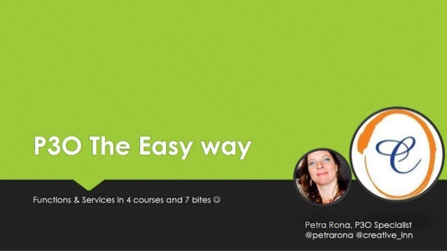 P3O The Easy way. Functions & Services
