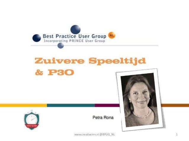 www.creativeinn.nl @BPUG_NL   1