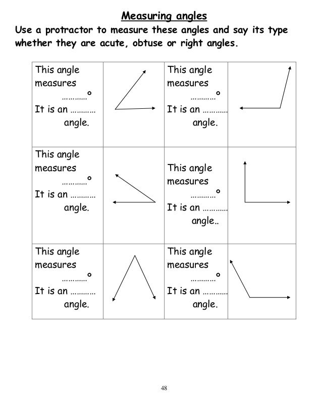 Measuring Angles Without A Protractor Worksheet jannatulduniya – Angle Measure Worksheet