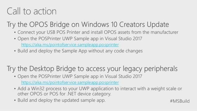 Build 2017 - P4050 - UWP Bridges for Retail Applications