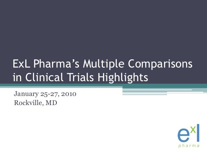 ExLPharma's Multiple Comparisons in Clinical Trials Highlights<br />January 25-27, 2010<br />Rockville, MD<br />