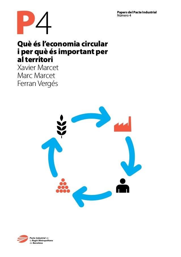 P4 Papers del Pacte Industrial Número 4 Què és l'economia circular i per què és important per al territori Xavier Marcet M...