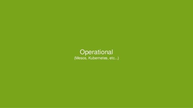 Operational (Mesos, Kubernetes, etc...)