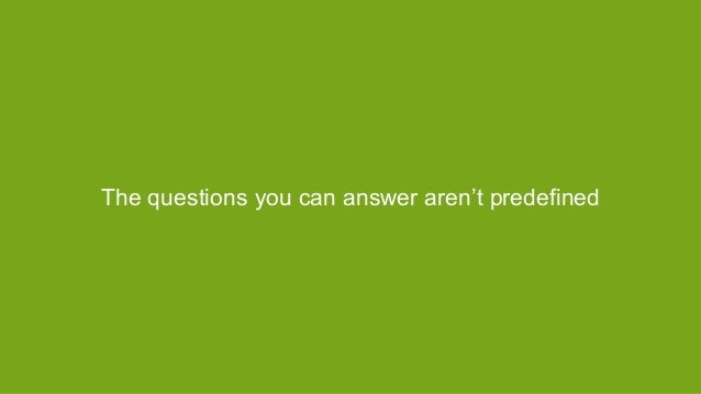 The questions you can answer aren't predefined