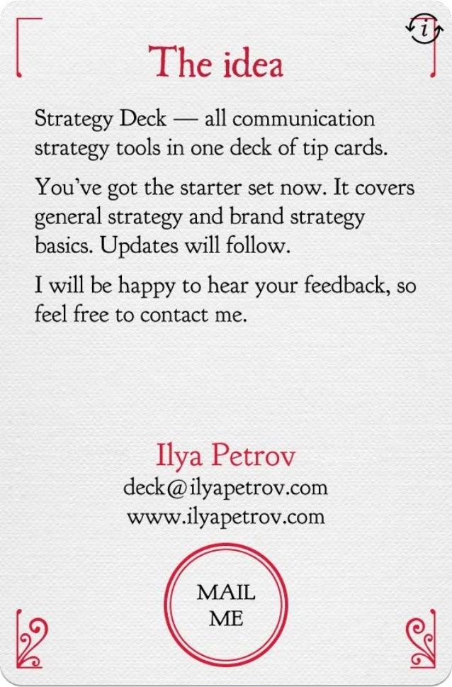 Strategy deck