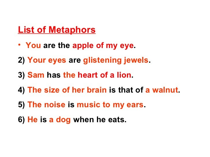 list similes metaphors