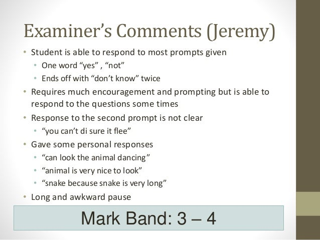 how to respond to comments examiner