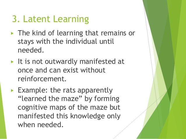 latent learning example