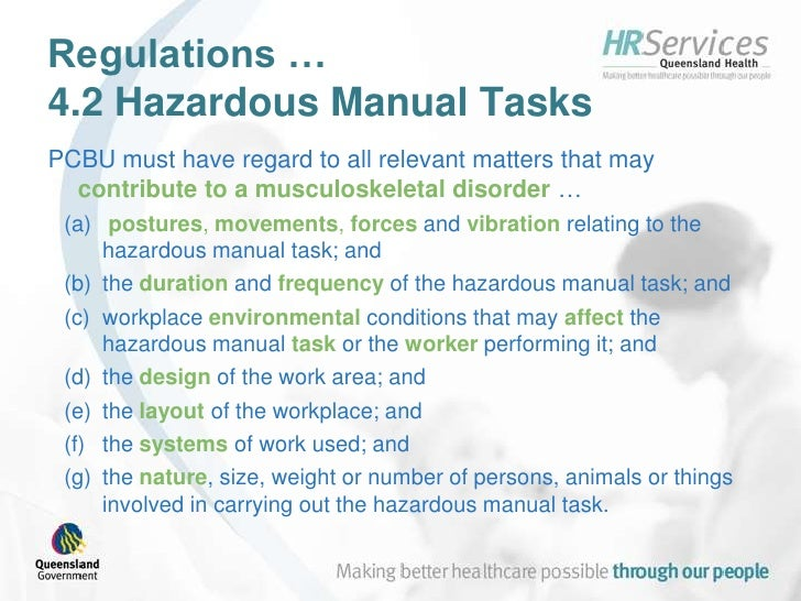 Introduction To Queensland Health'S Patient Handling Risk Assessment …
