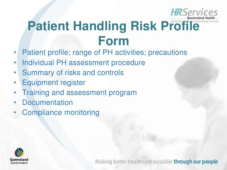 introduction to queensland health s patient handling risk assessment