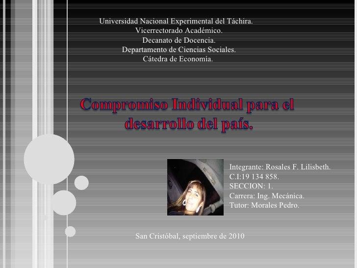 Universidad Nacional Experimental del Táchira.  Vicerrectorado Académico. Decanato de Docencia. Departamento de Ciencias S...