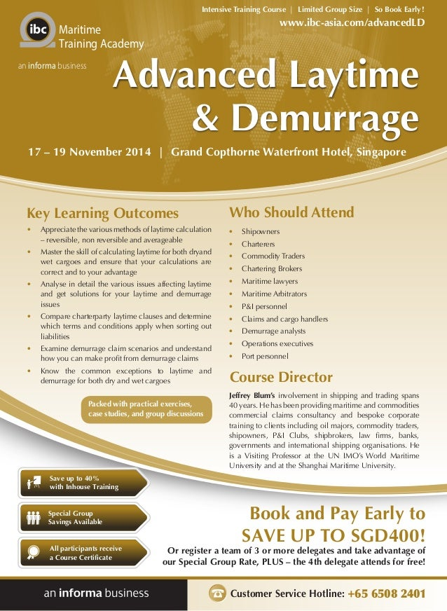 Attractive Intensive Training Course   Limited Group Size   So Book Early!