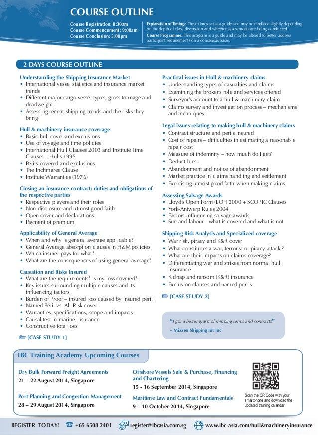 hull and machinery insurance pdf