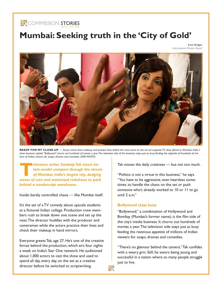 COMMISSION STORIES             Experience • Explore • Engage     Mumbai: Seeking truth in the 'City of Gold'              ...