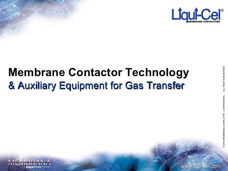Membrane Contactor Technology & Auxiliary Equipment for Gas Transfer ALL RIGHTS RESERVED