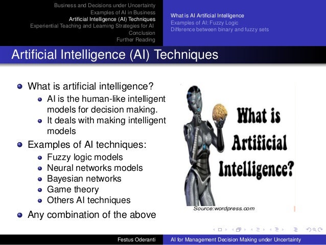Applications Of Artificial Intelligence  Ai  Models For