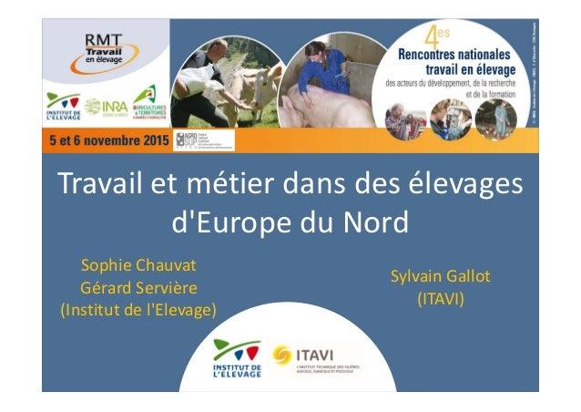 Travailetmétierdansdesélevages d'EuropeduNord SophieChauvat Gérard Servière (Institutdel'Elevage) SylvainGallo...