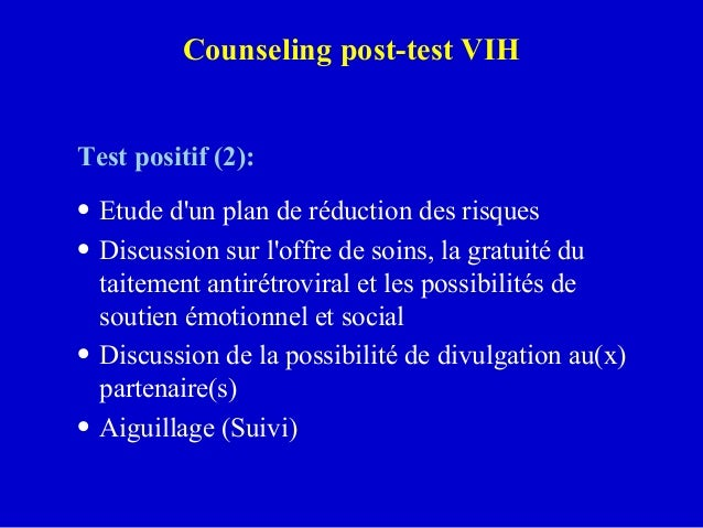 Counseling vih for Fenetre serologique