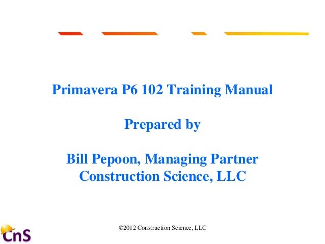 Primavera p6 custom training manual by universities of north.