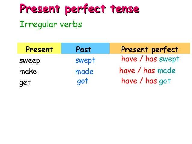 present tense of got