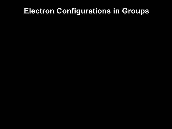 Lecture 62 Electron Configurations The Periodic Table