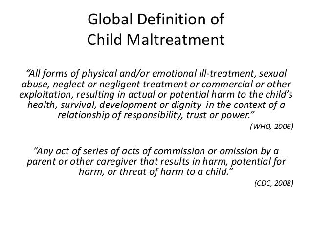a description of violence on children Most importantly, efforts should be directed at dramatically decreasing the exposure of children and adolescents to violence in the home, community.