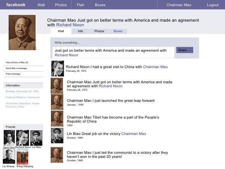 facebook                     Wall      Photos            Flair      Boxes                                   Chairman Mao  ...