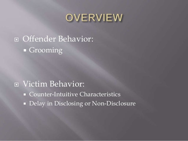 Grooming behaviors sex offenders