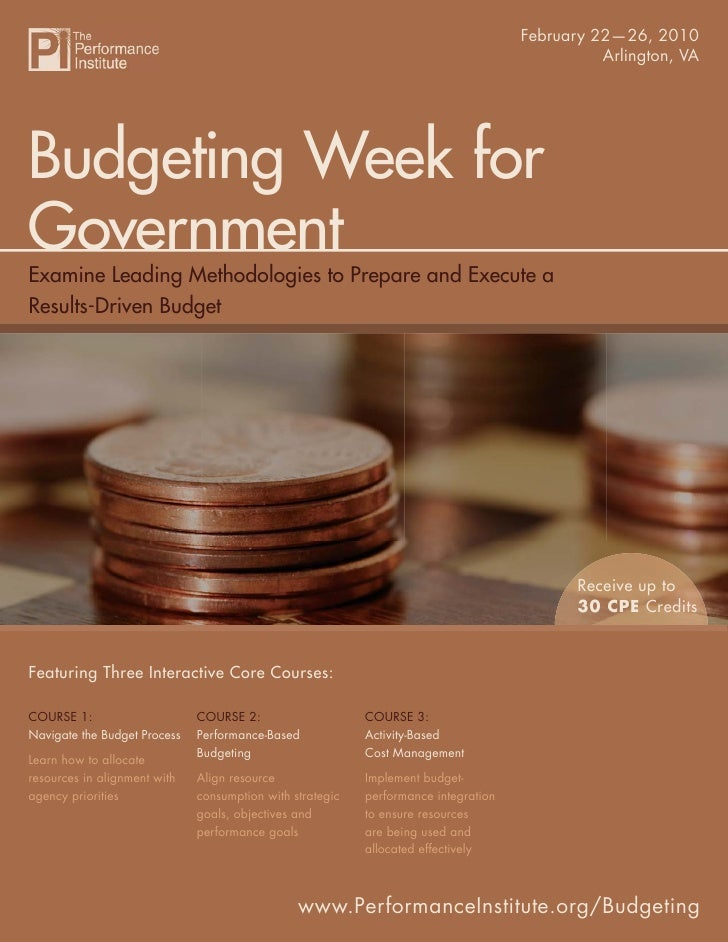 Budgeting Week for Government                                                                               February 22—26...