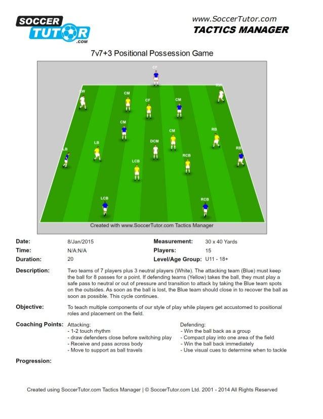 7v7+3 positional possession game