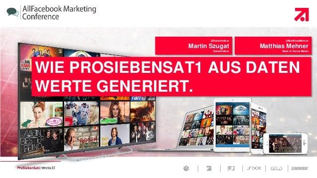   Page 1  October 15, 2015   @Datentreiber Martin Szugat Datentreiber @MatthiasMehner Matthias Mehner Head of Social Media...