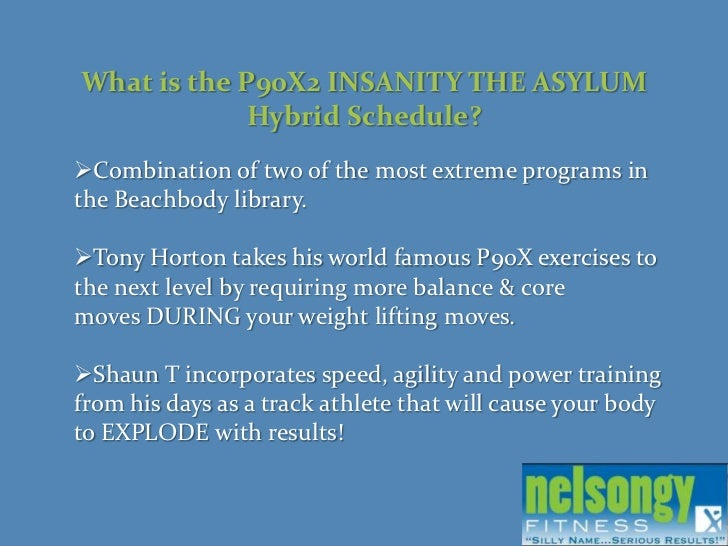 P90X2 INSANITY THE ASYLUM HYBRID SCHEDULE