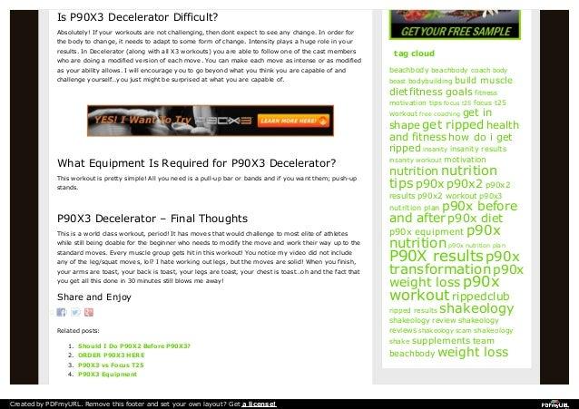 p90x3 decelerator workout