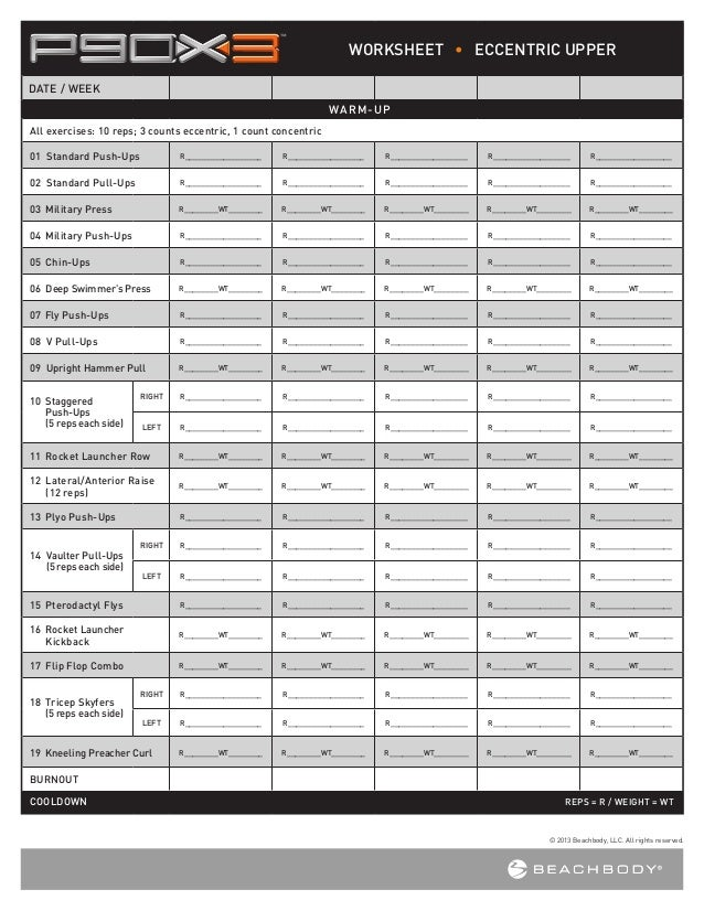 Printables P90x3 Worksheets p90 x3 worksheets worksheet eccentric