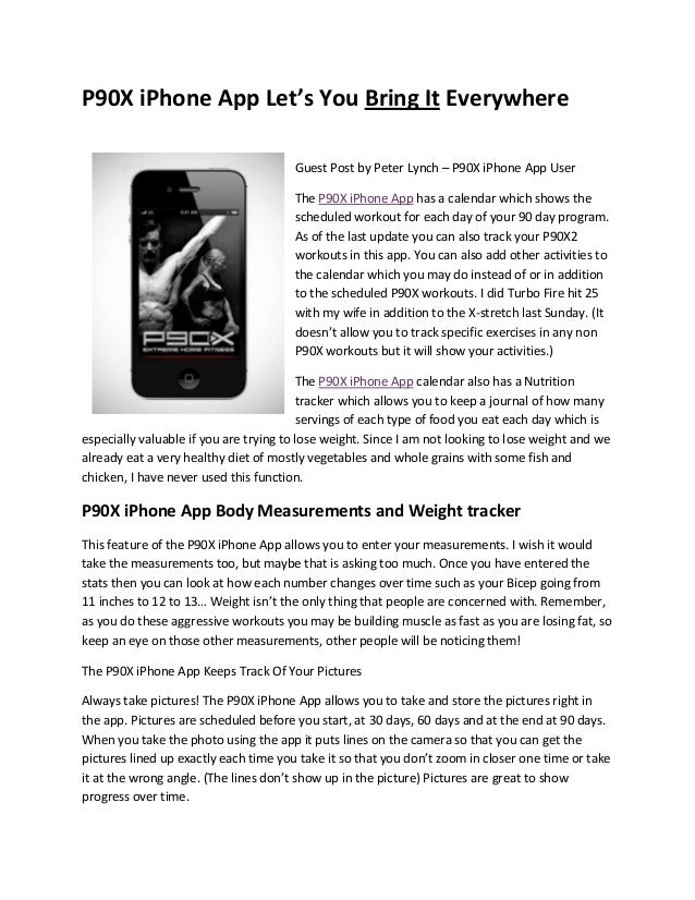 P90X iPhone App Let's You Bring It Everywhere
