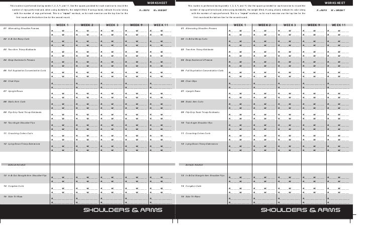 P90X Worksheet Treino P90X Brasil – P90x Chest and Back Worksheet