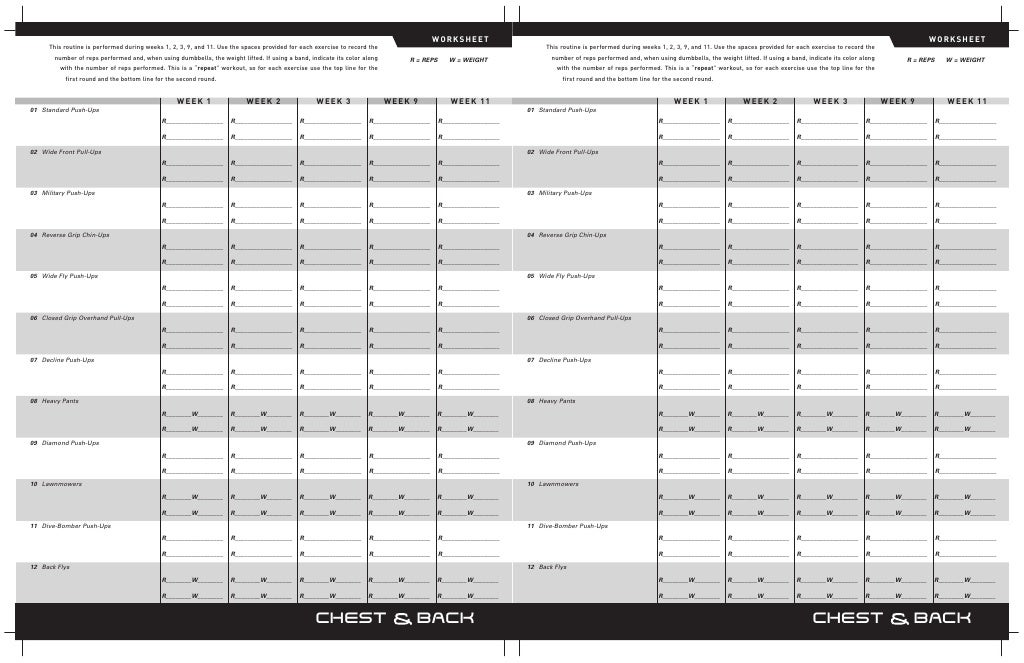 P90x Plus Worksheets Tecnologialinstante – P90x Worksheets Pdf