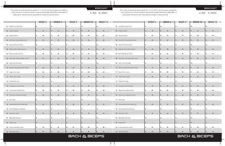 Worksheets Workout Worksheets p90x workout worksheets schedules click the picture for printable pdf