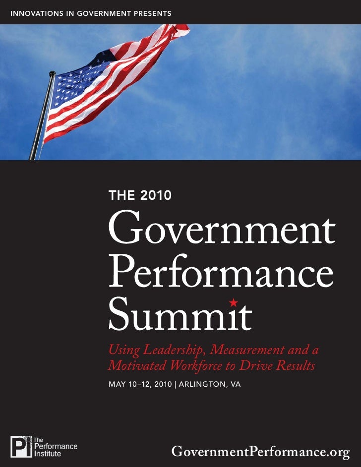 INNOVATIONS IN GOVERNMENT PRESENTS                                                                1                       ...