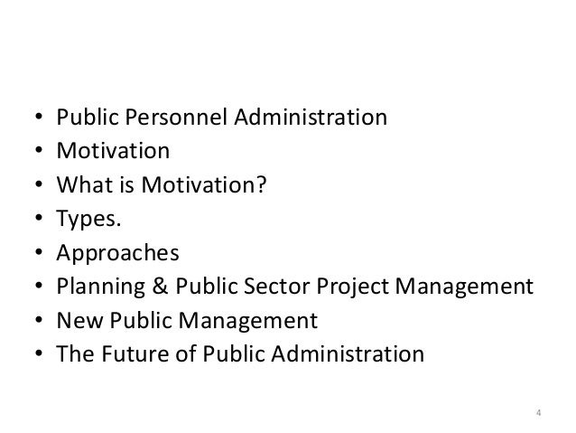 discuss the scope of public administration