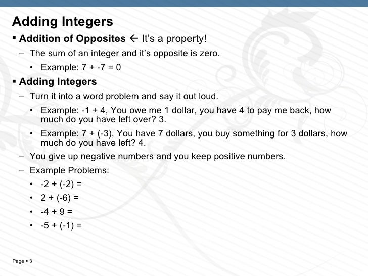 Ch1 Sec 56 Adding Subtracting Integers – Adding Integers Word Problems Worksheet