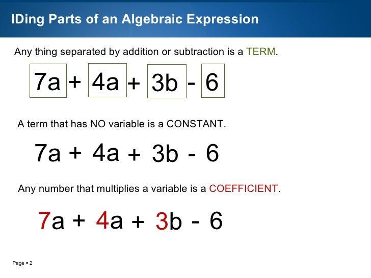 Pa2 3 Simplifying Algebraic Expressions