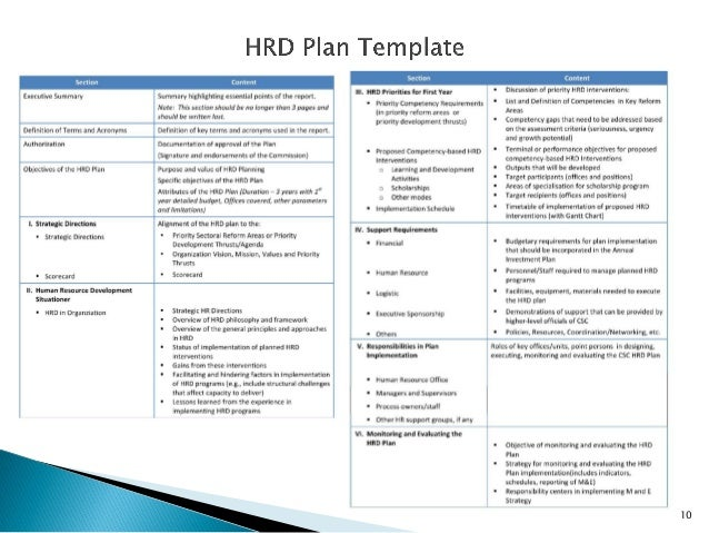Human resource management in local government in the for Resource development plan template