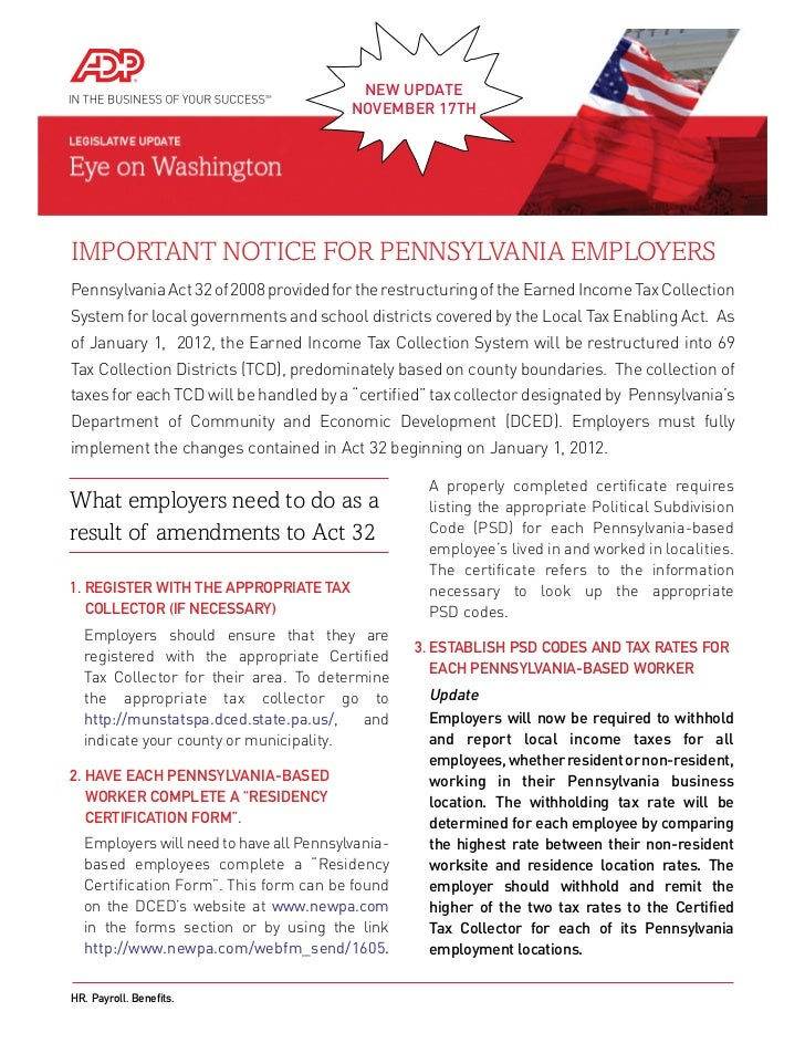 Important Notice For Pennsylvania Employers