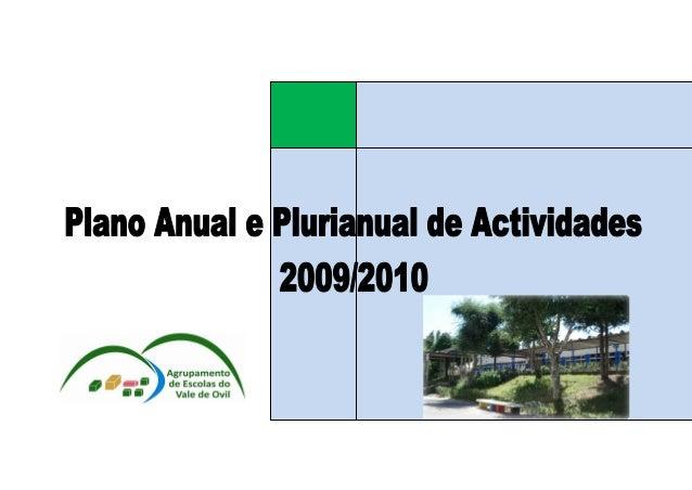 1. INTRODUÇÃO O Plano Anual de Actividades reveste-se da maior importância para toda a Comunidade Educativa, pois nele se ...