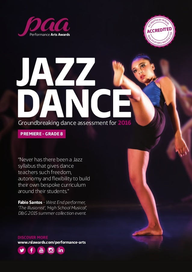 PAA 2016 Jazz Dance Flyer
