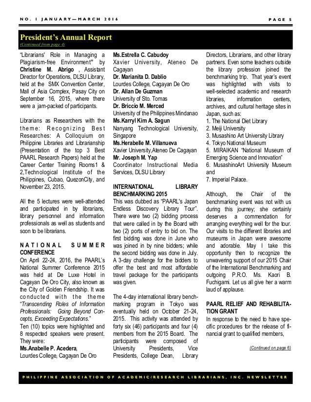 Paarl newsletter 2016 (Jan-Mar)