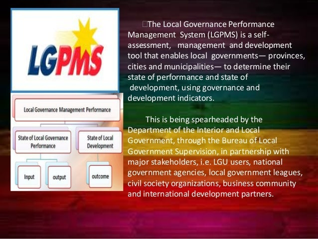 performance of sulu lgus on governance On february 20, 2009, the development budget coordinating committee (dbcc ) approved the performance based incentive policy (annex 1) which provides.